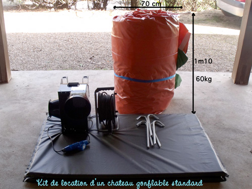 kit de location d'un chateau gonflable standard